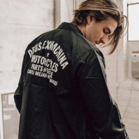 데우스 DEUS EX MACHINA CANGGU 짱구 코치자켓 남녀공용 로고 블랙 BLACK