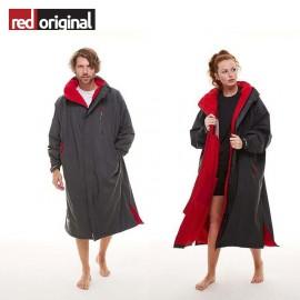 서핑 방한 판초 RED ORIGINAL Change Jacket Long Sleeve - GREY