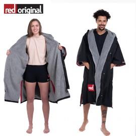 서핑 방한 판초 RED ORIGINAL Change Jacket Long Sleeve - BLACK
